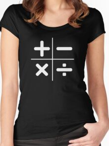 MATH plus, minus, multiply, divide Women's Fitted Scoop T-Shirt