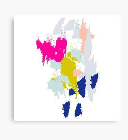 Acrylic paint brush strokes. Canvas Print