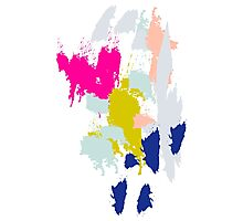 Acrylic paint brush strokes. Photographic Print