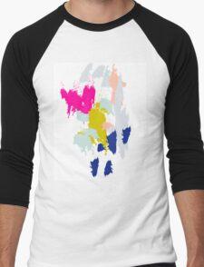 Acrylic paint brush strokes. Men's Baseball ¾ T-Shirt