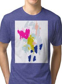 Acrylic paint brush strokes. Tri-blend T-Shirt