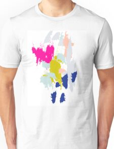 Acrylic paint brush strokes. Unisex T-Shirt