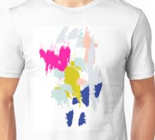 Acrylic paint brush strokes. Unisex T-Shirt
