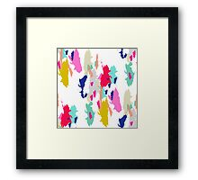 Acrylic paint brush stroke pattern. Framed Print