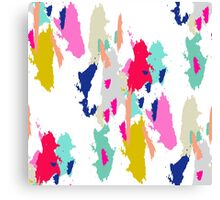Acrylic paint brush stroke pattern. Canvas Print
