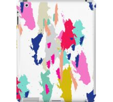 Acrylic paint brush stroke pattern. iPad Case/Skin