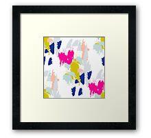 Gouache paint brush stroke pattern. Framed Print