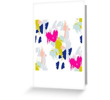 Gouache paint brush stroke pattern. Greeting Card