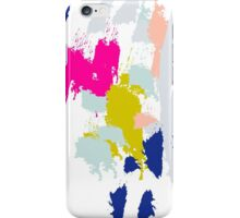 Gouache paint brush stroke pattern. iPhone Case/Skin