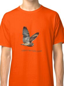 Flying Short-eared Owl - Support Our Public Lands Classic T-Shirt