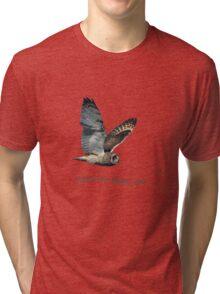 Flying Short-eared Owl - Support Our Public Lands Tri-blend T-Shirt