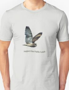Flying Short-eared Owl - Support Our Public Lands T-Shirt