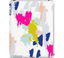 Gouache paint brush stroke pattern. iPad Case/Skin