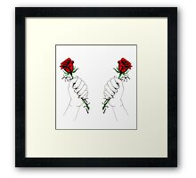 Barbed Wire Roses  Framed Print
