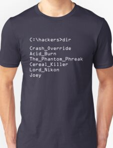 Hackers Movie - C: Cast of Characters T-Shirt