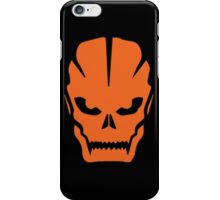 Orange skull iPhone Case/Skin