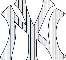 New York Yankees Pinstripes Logo by j423985