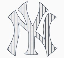 New York Yankees Pinstripes Logo One Piece - Long Sleeve