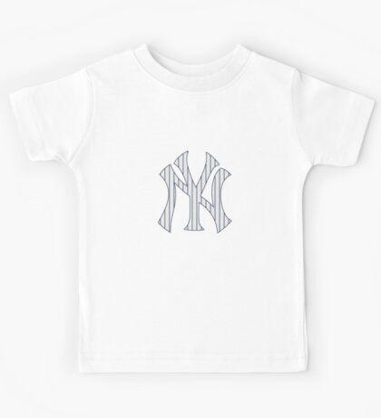 New York Yankees Pinstripes Logo Kids Tee