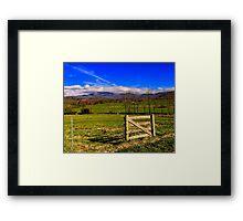 Mountain time! Framed Print