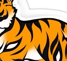 Cute Orange Tiger Chibi Sticker