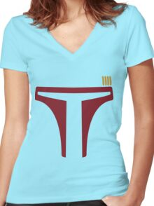 Boba Fett Women's Fitted V-Neck T-Shirt