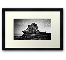 moon rocks (broome) Framed Print