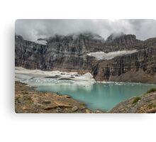 Grinnell and Salamander Glaciers, Soon Things of the Past Canvas Print