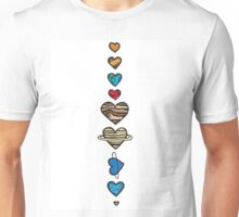 Lovely Coloured Planets Unisex T-Shirt