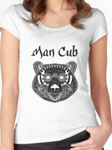 Man Cub Women's Fitted Scoop T-Shirt