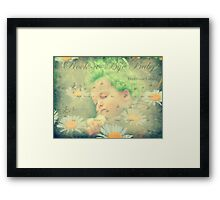 Even Baby Trolls need a nap :) Framed Print