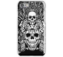 Aztec Jaguar Mask and Macuahuitl iPhone Case/Skin