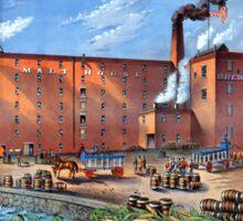Vintage Bay State Brewery Advertisement Boston Sticker