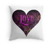 Pride and Prejudice Valentine Throw Pillow