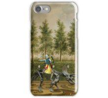 A Formal Garden with Dino Rider iPhone Case/Skin