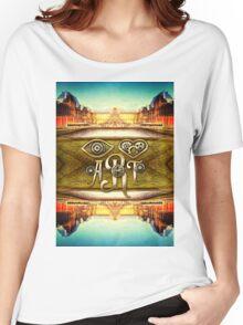 Eye Heart Art Louvre Museum Paris da Vinci Gears Women's Relaxed Fit T-Shirt