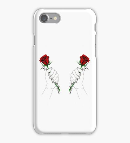 Barbed Wire Roses  iPhone Case/Skin