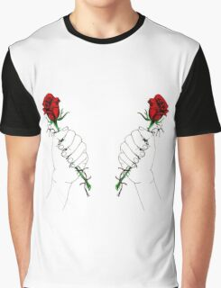 Barbed Wire Roses  Graphic T-Shirt
