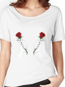 Barbed Wire Roses  Women's Relaxed Fit T-Shirt