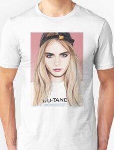 Cara Delevingne pencil portrait fanart T-Shirt