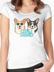 CORGI SQUAD - (The Doctor and the Queen) Women's Fitted Scoop T-Shirt