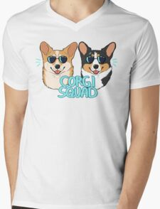 CORGI SQUAD - (The Doctor and the Queen) Mens V-Neck T-Shirt