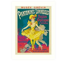 Theatre Optique, French Theater Poster Art Print
