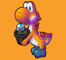 Orange Yoshi with Potted Piranha Plant Unisex T-Shirt