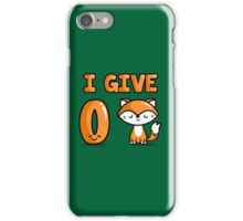 Zero Fox iPhone Case/Skin