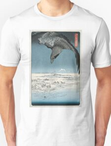 Raven Over Winter Landscape Unisex T-Shirt