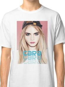 Cara Delevingne pencil portrait 2 Classic T-Shirt