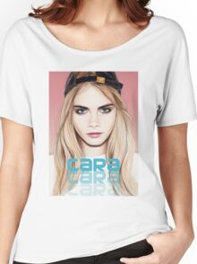 Cara Delevingne pencil portrait 2 Women's Relaxed Fit T-Shirt