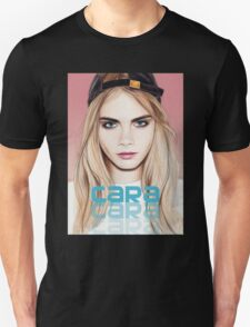 Cara Delevingne pencil portrait 2 Unisex T-Shirt