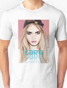 Cara Delevingne pencil portrait 2 Unisex T-Shirt
